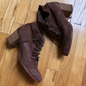 DV Dolce Vita Lace Up Brown Booties Size 10